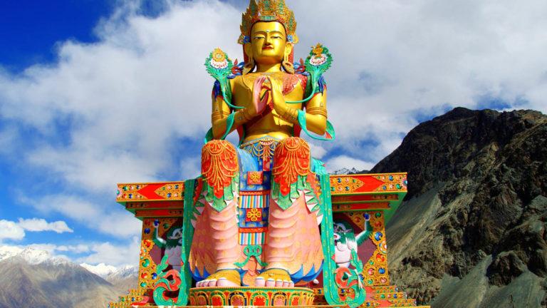 Maitreya Buddha Statue - Ladakh